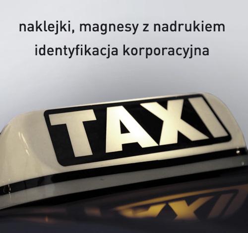 naklejki taxi